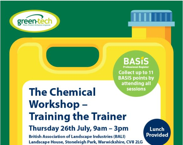 Training the Trainer Chemical workshop to be held at BALI head office