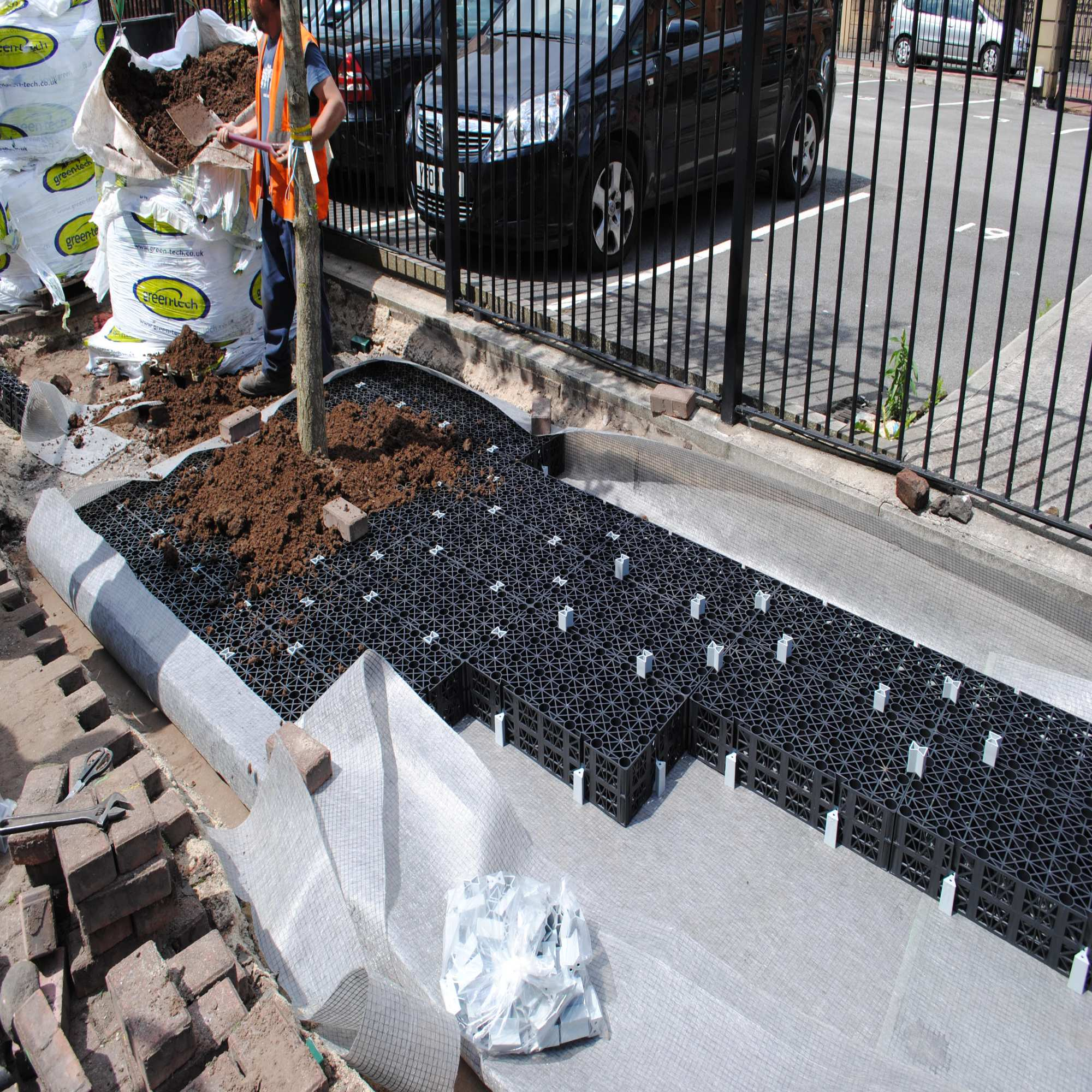 Arborraft being installed in Chepstow Street, Manchester