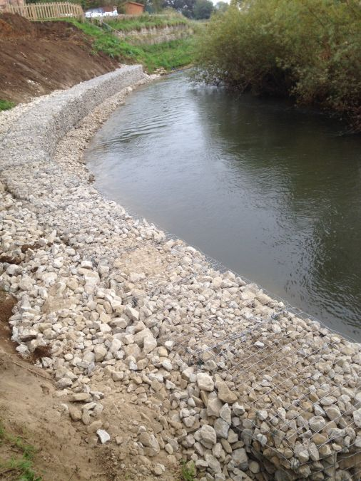 Award winning landscaping supplier Green-tech has supplied the materials to stabilise part of a river bank in North Yorkshire.
