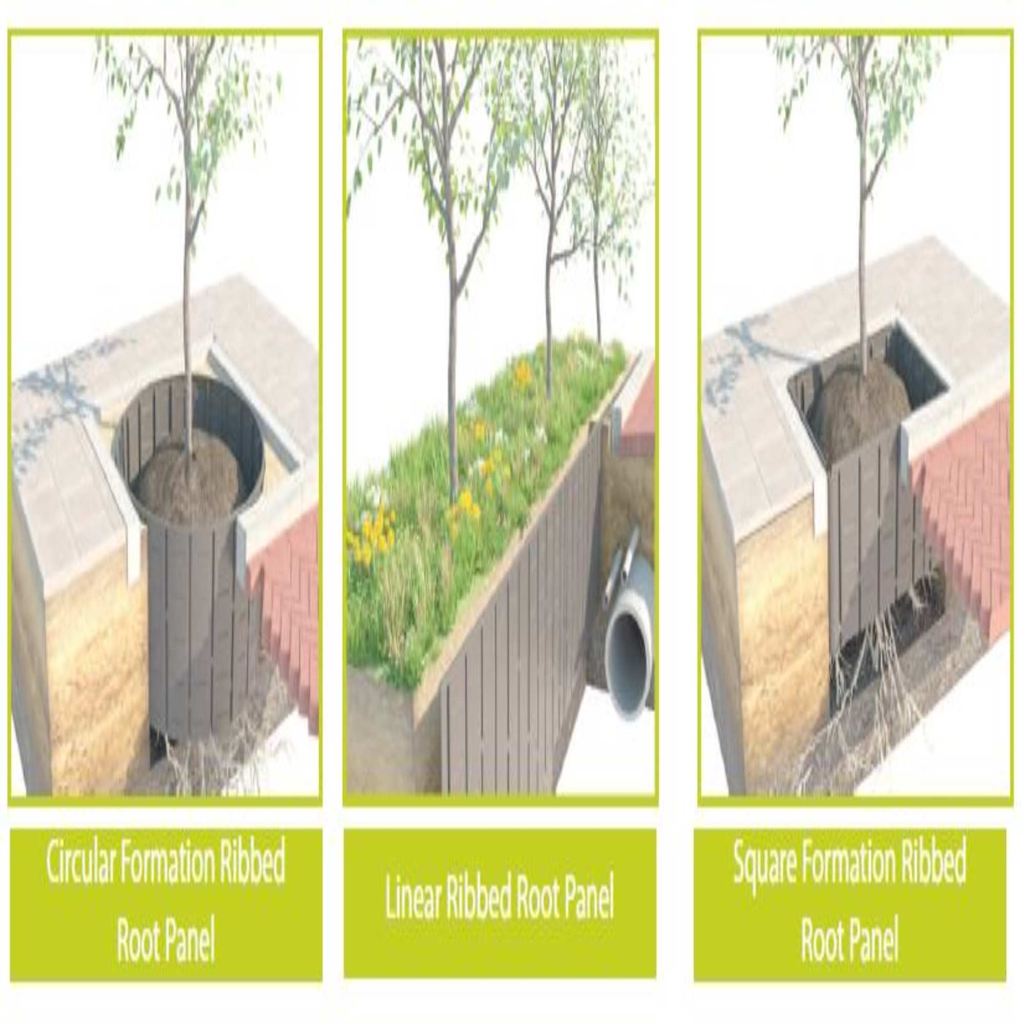 Ribbed Root Barrier Panels Tree Pit Root Barriers