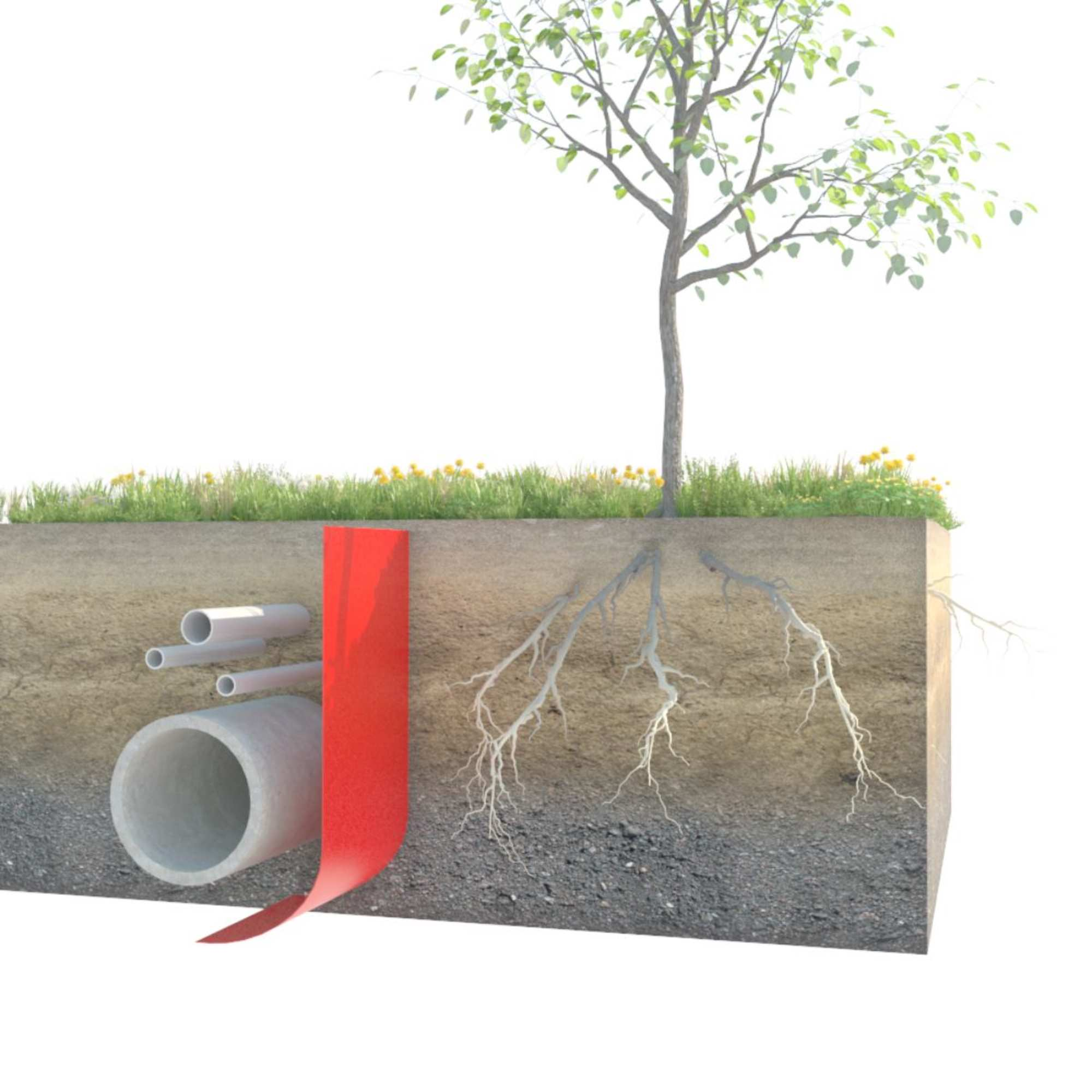 Root Barrier 325 Tree Pit Root Barriers Green Tech